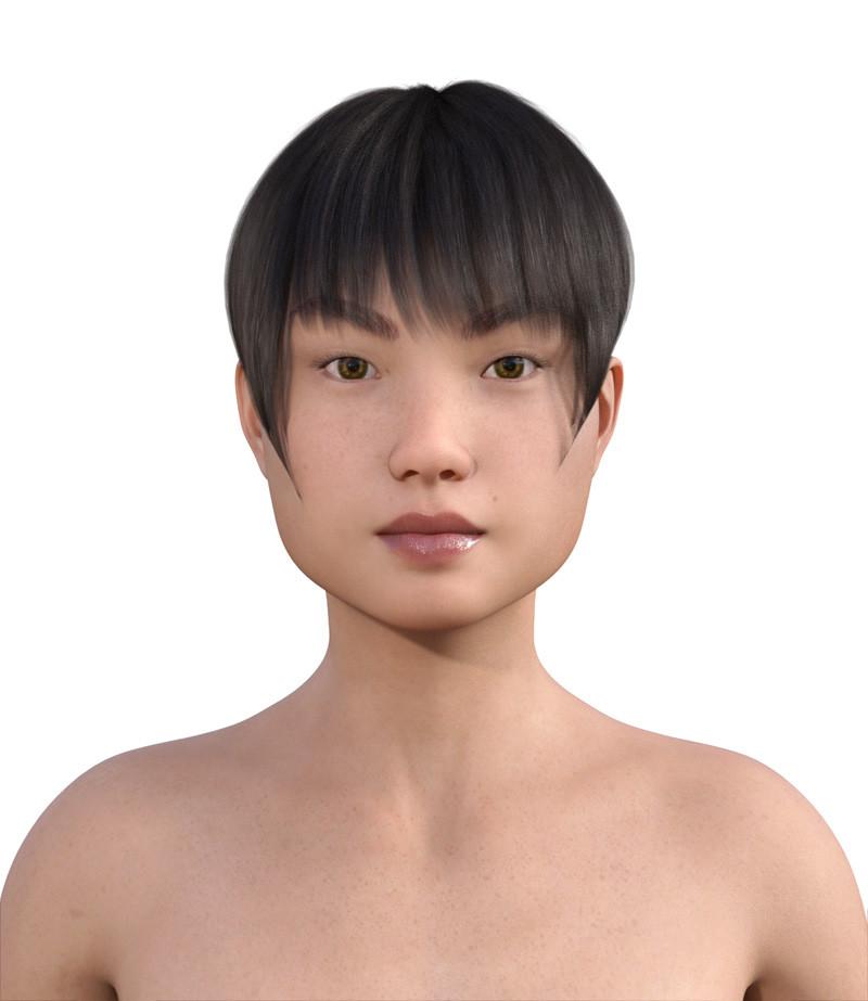 似合う髪型・四角顔0-12