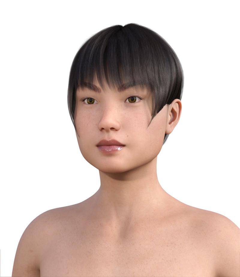 似合う髪型・四角顔0-13