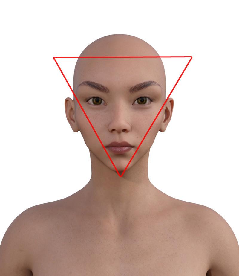 似合う髪型・逆三角形0-111