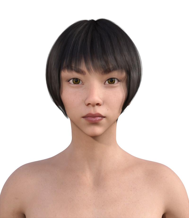 似合う髪型・逆三角形0-13