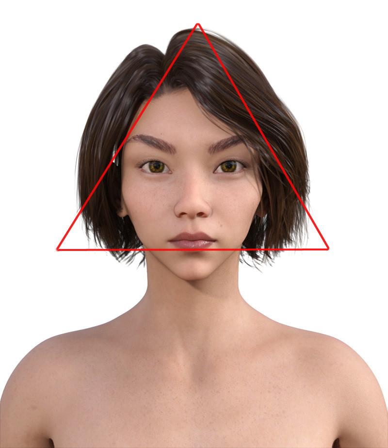 似合う髪型・逆三角形0-9-111