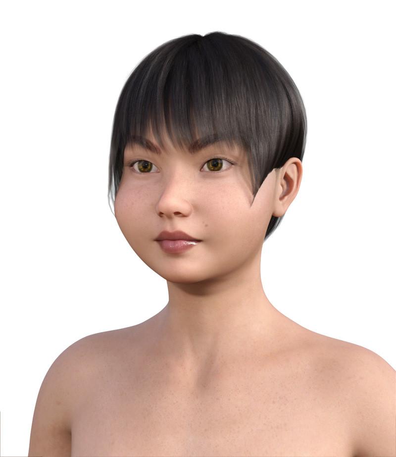 似合う髪型・丸顔0-3