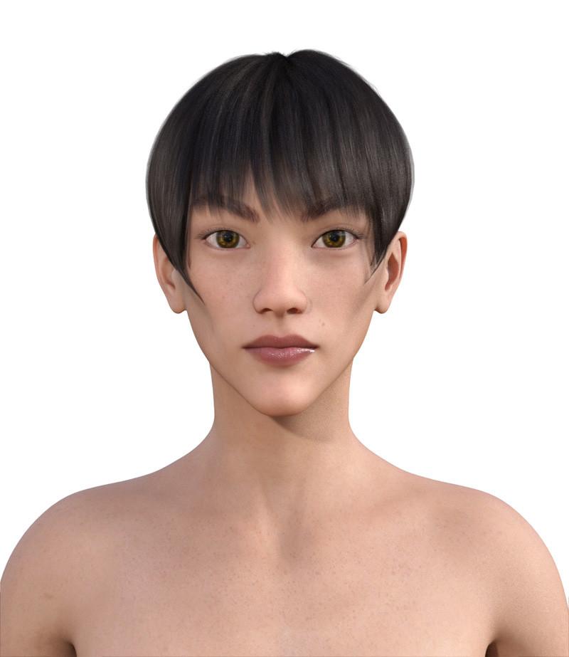 似合う髪型・面長0-12