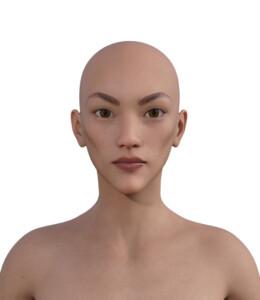 似合う髪型・面長0