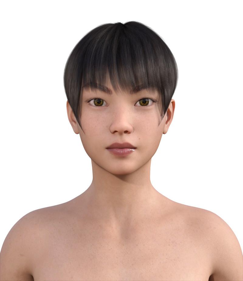 似合う髪型・卵型0-12