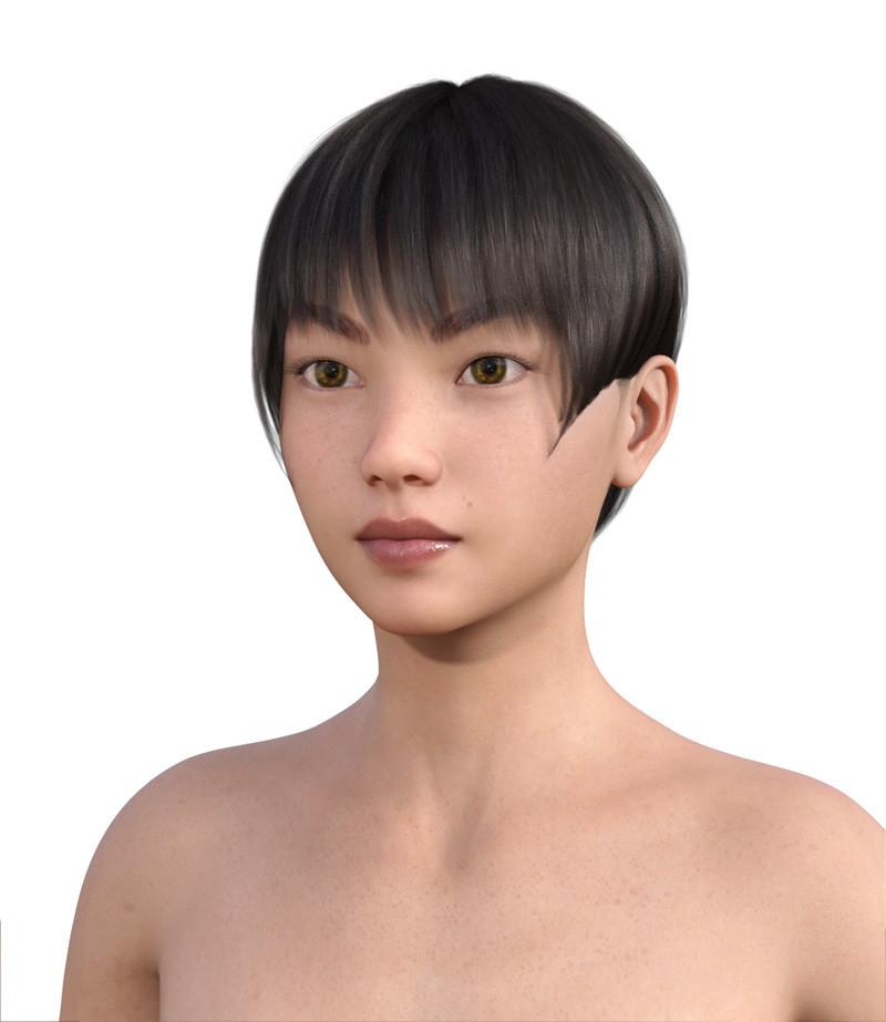 似合う髪型・卵型0-13