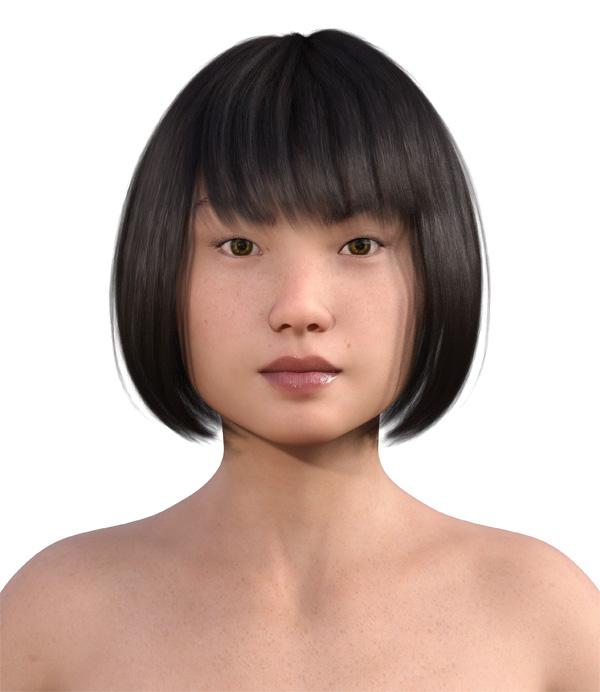 顔型診断で髪型0