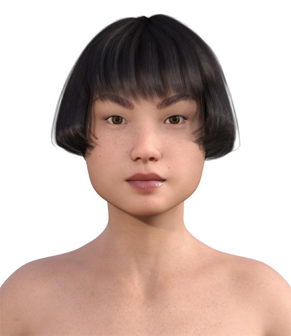 顔型診断で髪型4