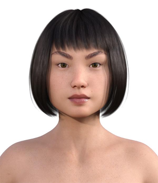 顔型診断で髪型6