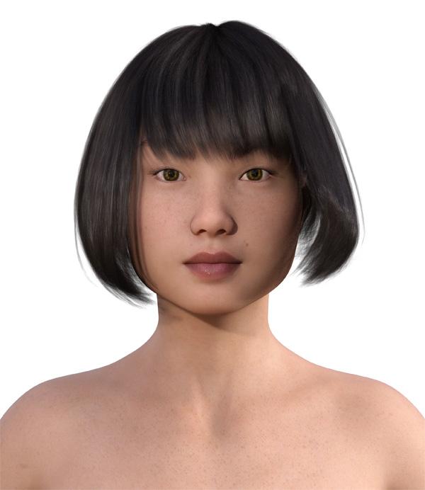 顔型診断で髪型8