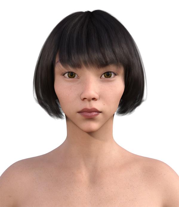 顔型診断で髪型2