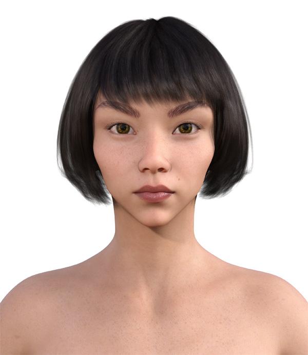 顔型診断で髪型3
