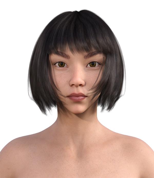 顔型診断で髪型7