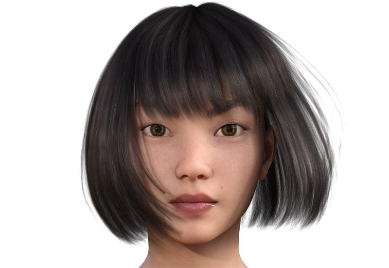 顔型診断で髪型100-1-1