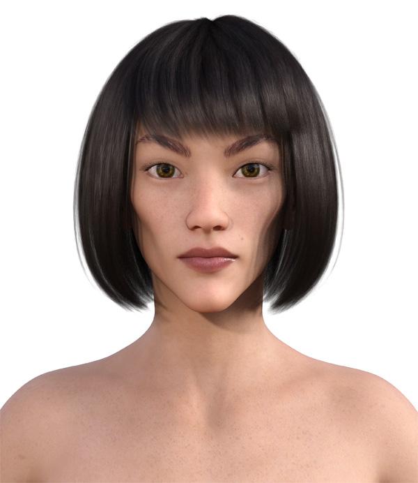 顔型診断で髪型5