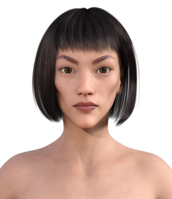 顔型診断で髪型9