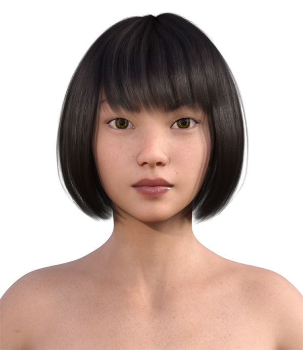 顔型診断で髪型22