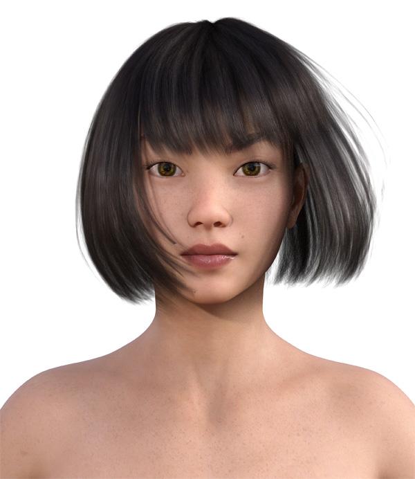 顔型診断で髪型1
