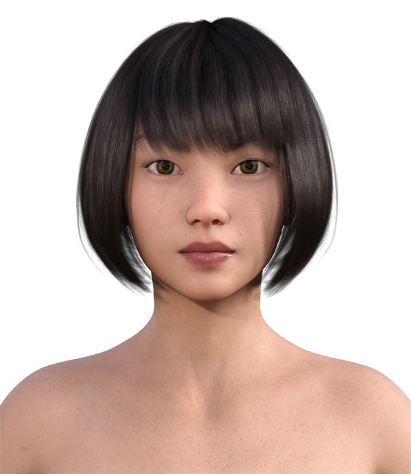 顔型診断で髪型20