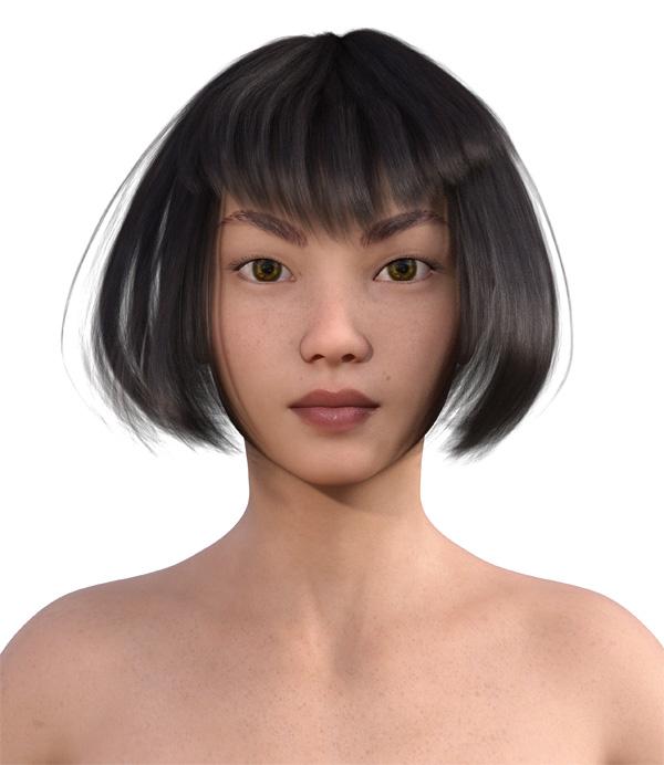 顔型診断で髪型21