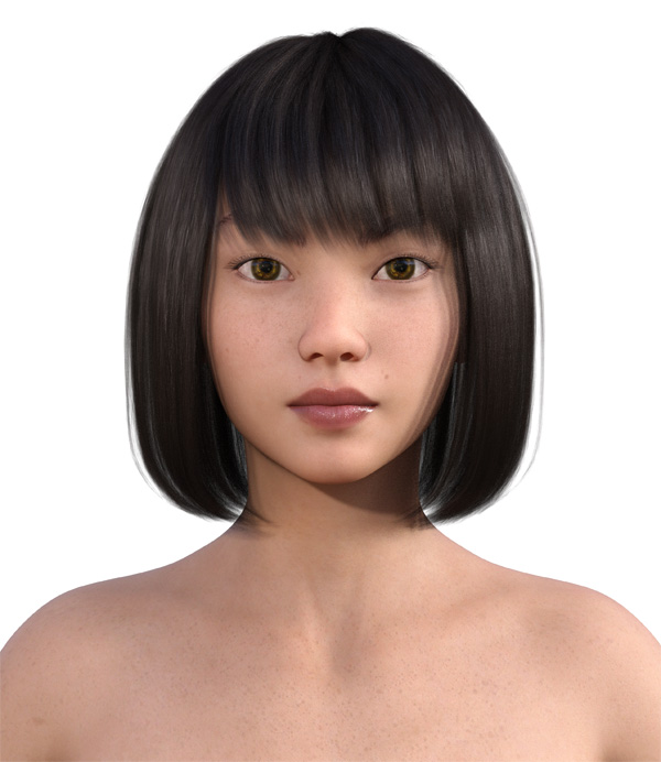顔型診断で髪型23