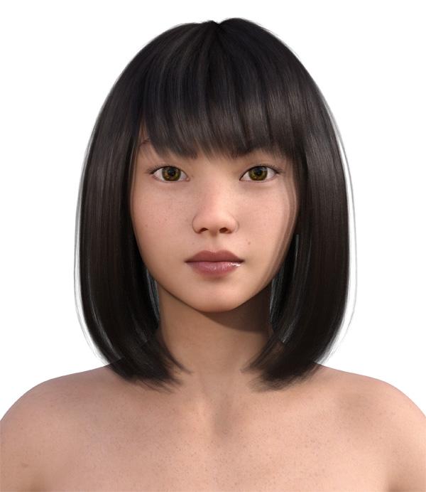 顔型診断で髪型24
