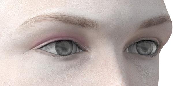 ピンクのアイシャドウ704