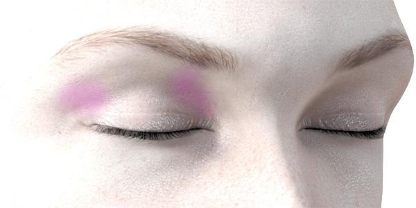 ピンクのアイシャドウ705