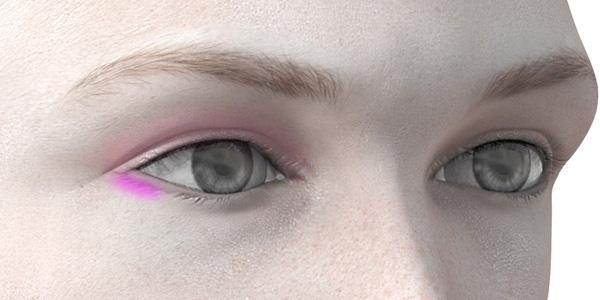 ピンクのアイシャドウ707