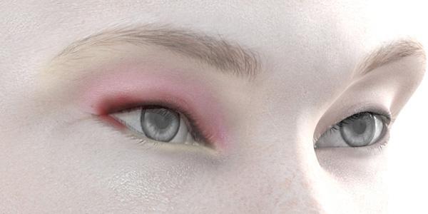 ピンクのアイシャドウ718