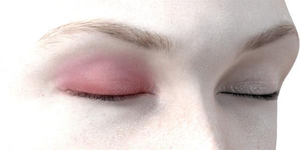 ピンクのアイシャドウ722