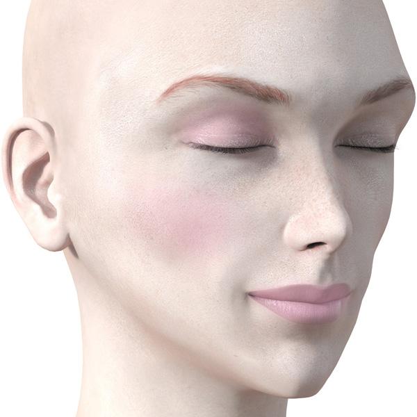 ピンクのアイシャドウ723