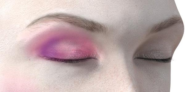 ピンクのアイシャドウ731